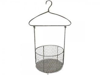 Chic Antique - French Style Hanging Basket - metal | grey - Grey/Grey