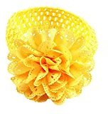 Sunward Cute Baby Kids Girls breathable hollow out Lace Flower Hairband Headband Dress Up hair band Head wrap band (Yellow)