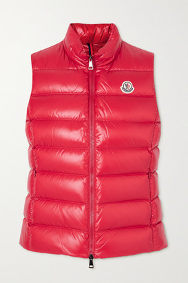 Moncler Ghany Quilted Shell Down Gilet - Red