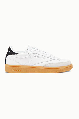 Reebok Club C 1985 Suede-trimmed Leather Sneakers - White