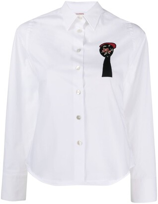 Antonio Marras Embroidered Button-Down Shirt