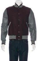 Thom Browne Wool Leather-Trimmed Varsity Jacket w/ Tags