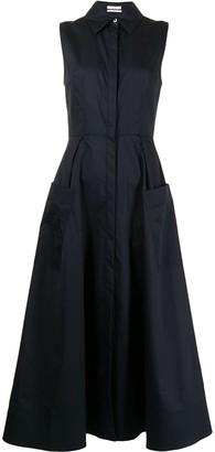 Co A-line poplin shirt dress