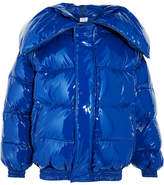 Vetements Miss Webcam Quilted Vinyl Jacket - Bright blue