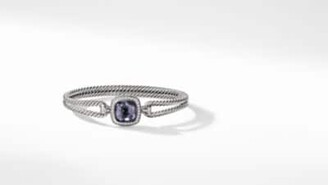 David Yurman Albion Bracelet With Black Orchid And Diamonds, 11Mm