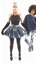 Charley 5.0 Tie Dye Denim Poof Skirt with Exposed Gold Back Zipper
