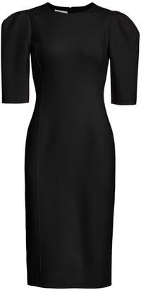 Michael Kors Puff-Sleeve Sheath Dress