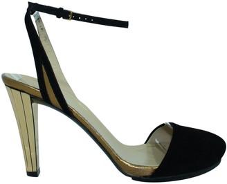 Gucci Gold Suede Sandals
