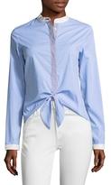 Bailey 44 Cotton Stripe Front Tie Top