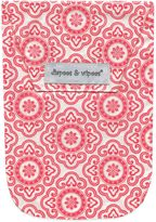 Diapees & Wipees Laminated Storage Bag with Wipes Case in Cherry Medallion