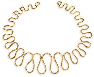 Sylvia Toledano Wave Goldtone Collar Necklace