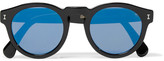 Illesteva Leonard D-frame Acetate Mirrored Sunglasses
