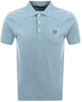 Lyle & Scott Short Sleeved Polo T Shirt Blue