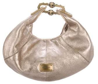 Jimmy Choo Metallic Suede Hobo