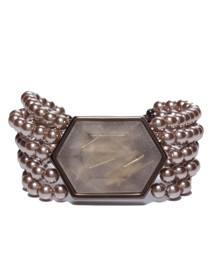 The Limited Pearl Bead & Glass Stone Bracelet