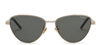 Mulberry Nikki Sunglasses Gold and Dark Green Acetate