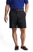 """Classic Men's Regular 9"""" Plain Chino Shorts-Brown Herringbone"""