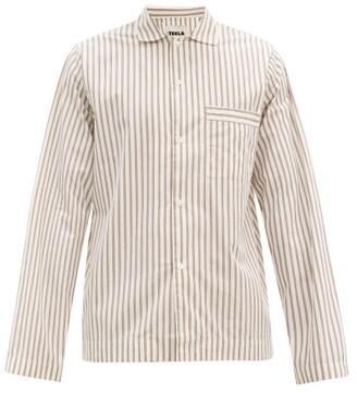 Tekla - Striped Organic-cotton Pyjama Shirt - Cream Multi