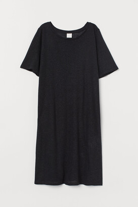 H&M Linen-blend T-shirt Dress