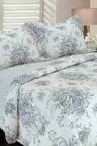 Melange Home Toile Cotton Reversible Quilt - Grey