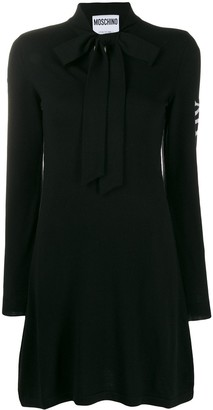 Moschino Pussy-Bow Jumper Dress