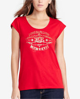 Lauren Ralph Lauren Jersey Foil Graphic T-Shirt, A Macy's Exclusive