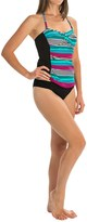 Leilani Antibes Stripe Twist Bandini Tankini Set (For Women)