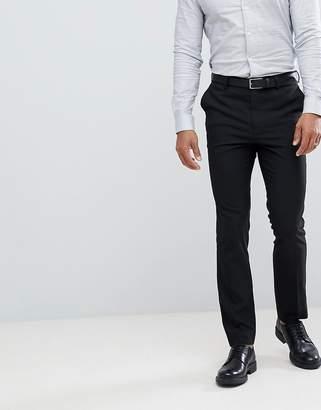 New Look smart slim trousers in black