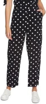 1 STATE Polka-Dot Wide-Leg Pants