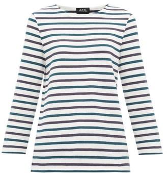 A.P.C. Catarina Breton-striped Cotton Top - Womens - White Multi