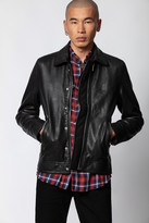 Zadig & Voltaire Lam Cuir Washed Jacket