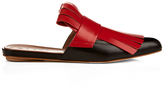 Marni Fringed leather slip-on loafers