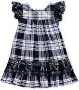 Sweet Heart Rose Eyelet-Embroidered Plaid Dress, Little Girls