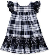 Sweet Heart Rose Eyelet-Embroidered Plaid Dress, Toddler Girls