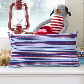 Harriet Bee Southwold Beach Stripe Cotton Lumbar Pillow Cover