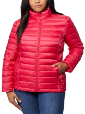 32 Degrees Plus Size Down Packable Puffer Coat