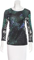 Emilio Pucci Long Sleeve Lace-Accented Top