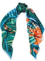 Roberto Cavalli Unica Printed Silk Satin-Twill Scarf