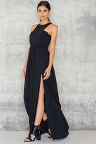 High Neck Slit Maxi Dress