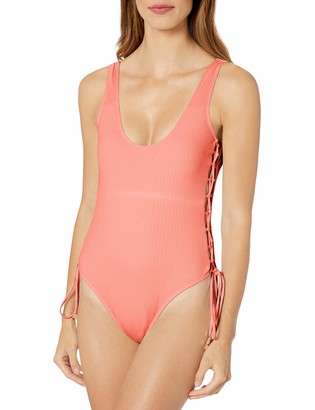 Cyn & Luca Women's Side Body Straps One-Piece Swimsuit
