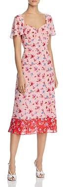 Nanette Lepore Nanette nanette Floral Sweetheart Dress