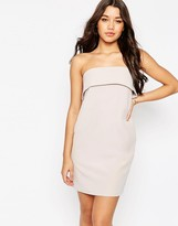 Asos Folded Aline Bandeau Mini Dress