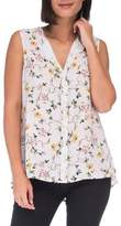 Bobeau Floral Sleeveless Top