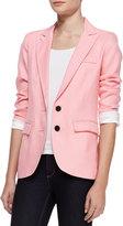 Smythe Bright Crepe Boyfriend Blazer, Flamingo