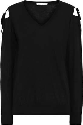 Autumn Cashmere Cutout Bow-detailed Cashmere Sweater