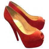 Christian Louboutin Red Velvet Heels