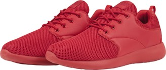 Urban Classics Light Runner Shoe Unisex Adult Training Shoes Red Size: 37 EU (4 UK)