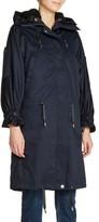 Maje Women's Faux Shearling Lined Long Raincoat