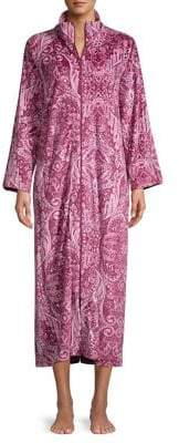 Miss Elaine Printed Full-Zip Robe