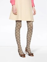 Thumbnail for your product : Gucci Beige Gg Pattern Tights